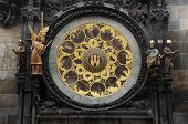 pic of mikulas  - detail of the famous astronomical clock on town square Prague - JPG