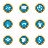 European Community Icons Set. Flat Set Of 9 European Community Icons For Web Isolated On White Backg poster