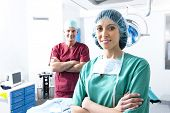 Portrait of a medical team inside operating room