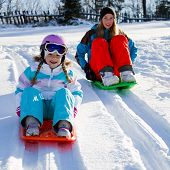 stock photo of snow-slide  - Winter - JPG