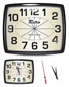 Vector Retro Clock.  Change the time to suit your own projects.  Excellent to use as part of a New Y