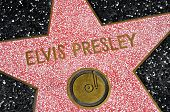 LOS ANGELES - OCTOBER 16: Elvis Presley star in Hollywood Walk of Fame on October 16, 2011 in Los An