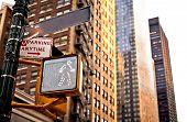 Sinal de rua de Nova York em branco