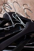 Clothes Hangers. Many Different Hangers For Clothes. poster