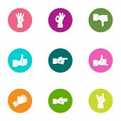 Excellently Icons Set. Flat Set Of 9 Excellently Icons For Web Isolated On White Background poster