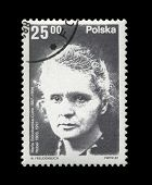 Poland - Circa 1982: Cancelled Stamp Printed In Poland, Shows Famous Polish Nobel Prize Winner, Radi