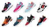 Fitness Sneakers Shoes For Training Running Shoe. Sport Shoes Set poster