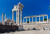 Ancient temple of Trajan, Bergama, Turkey