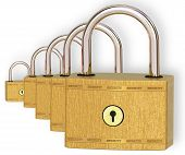 Five Metal Locks