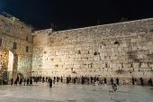 Western Wall At Night