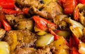 Roasted Meat And Peppers