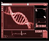 DNA Helix red digital interface