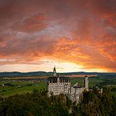 Neuschwanstein Castle And Majestic Clouds