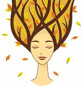 Beautiful woman of autumn