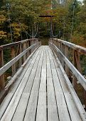 Cable Suspended Wooden Footbridge
