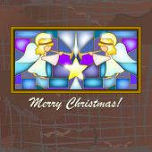 Christmas Card With Angels