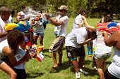 People Drench One Another In Group Water Gun Fight