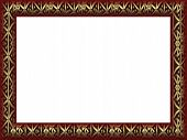 Large Gold Classic Art Frame Png