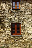 Detail of a schist house at Portugal
