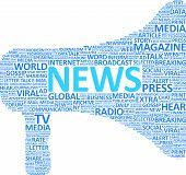 Conceito de megafone de notícias extra