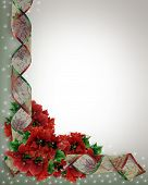 Christmas Ribbons Corner Design Frame