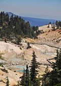 View of Boardwalk at Bumpass Hell, California