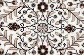 Carpet With Intricate Design.