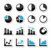 stock photo of fraction  - Chart and graph labels set for website - JPG