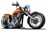foto of chopper  - Vector Cartoon Motorbike - JPG