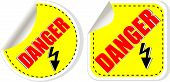 Vector Warning Danger Sign Set, Vector