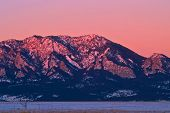 Sunlight Morning Light On Boulder\'S Flatiron Mountains