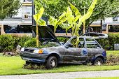 Destroyed Ford Fiesta In Montreux