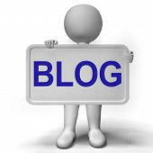 Blog Signboard For Blogger Website And Blogging