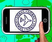 Luftpost auf Smartphone anzeigen Air Lieferung