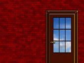 Interior Sketch, Blue Sky Beyond The Door poster
