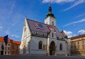 Saint Mark's Church In Zagreb Croatia