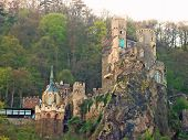 picture of olden days  - An olden days castle located by the Rhine River in Germany - JPG