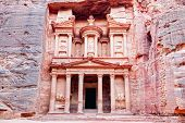 picture of rock carving  - Al Khazneh in Petra - JPG