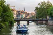 Evening At The Ill River In Strasbourg - Alsace, France