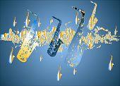 Saxofoon migratie - Blue