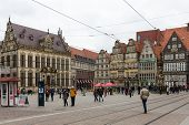 Bremen - April 27: Unknown People At The Marketplace Of The City Center On April 27, 2013 In Bremen,