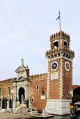 stock photo of arsenal  - View at Arsenale In Castello in Venice - JPG