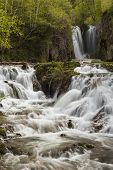 stock photo of spearfishing  - A waterfall in the Black Hills of South Dakota - JPG