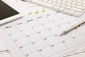 Blank Calendar On Office Table