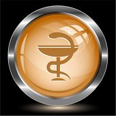 Pharma symbol. Internet button. Vector illustration.