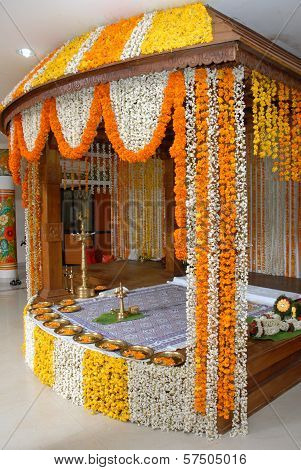 A Kerala Wedding Flower Decoration Poster Id57505016
