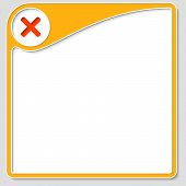 foto of bans  - yellow frame for text with ban mark - JPG