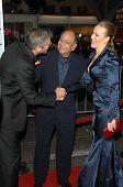George Clooney, Cheech Marin and wife Natasha Rubin at the