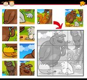 Cartoon Animals Jigsaw Puzzle Game