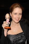 Jenna Fischer and her own bobble-head  at Kitten Rescue's